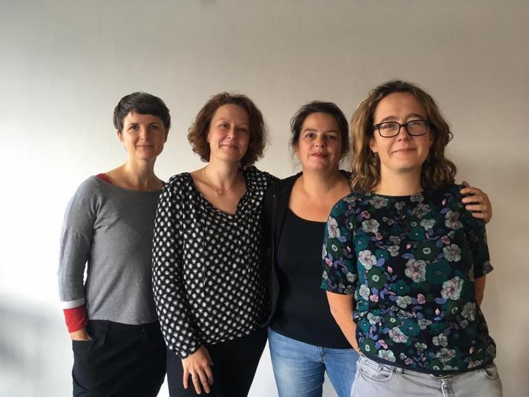 Team der Bürgerstiftung Halle, v.l.: Juliane Graichen, Antje Löhr-Dittrich, Ulrike Rühlmann, Karoline Friebel