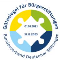 Gütesiegel der Deutschen Bürgerstiftungen